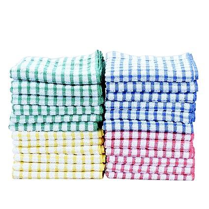dish towels bulk kitchen towels 100 cotton kitchen dish cloths scrubbing dishcloths sets 11x17 inch - Kitchen Towel Sets