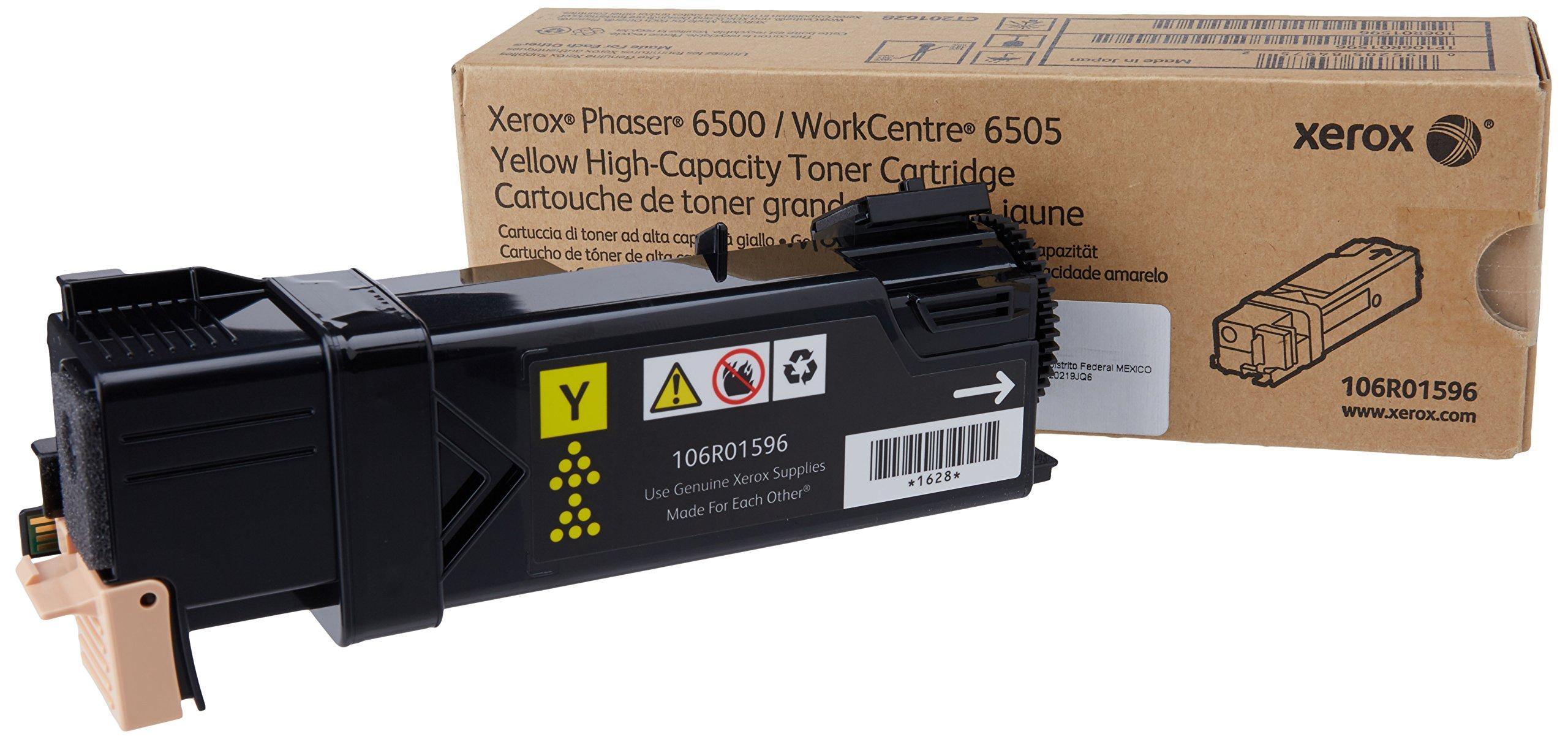 XEROX 106R01596 Yellow High Capacity Toner Cartridge FOR Phaser 6500/WC 6505