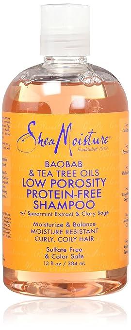 Shea Moisture Low Porosity Protein Free Shampoo, 13 Ounce