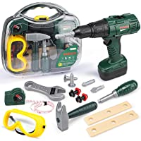 STEAM Life Kids Tool Set with Power Toy Drill - Toy Tool Set Contains Tool Box and Toy Hammer, Goggles, Power Drill and…