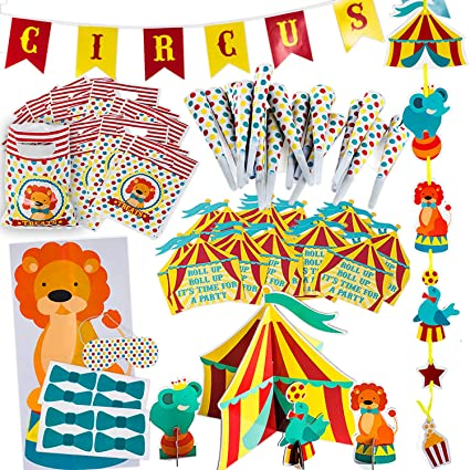 Circus Party Supplies Decorations Circus Themed Party Supplies Carnival Party Supplies Carnival Theme Decorations By Tigerdoe