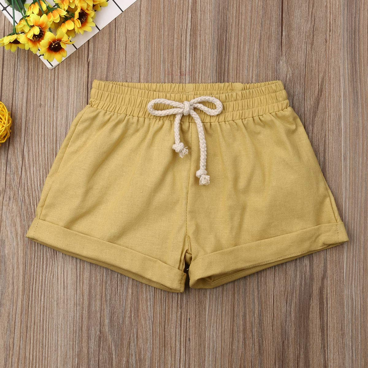 Lefyira Baby Kids Boy Casual Shorts with Pockets Elastic Waist Pants Cotton Shorts Bloomers Beachwear Outfits