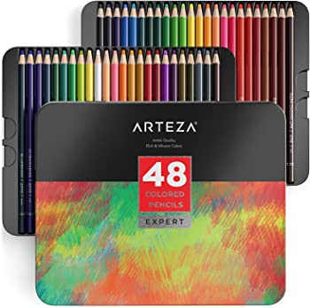 ARTEZA 48 Colored Pencils Professional Set