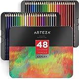 Arteza Buntstifte Set — Zeichenstifte für Professionelle Künstler — Farbstifte mit Weicher Mine — Set mit 48 Malstiften in Verschiedenen Farben
