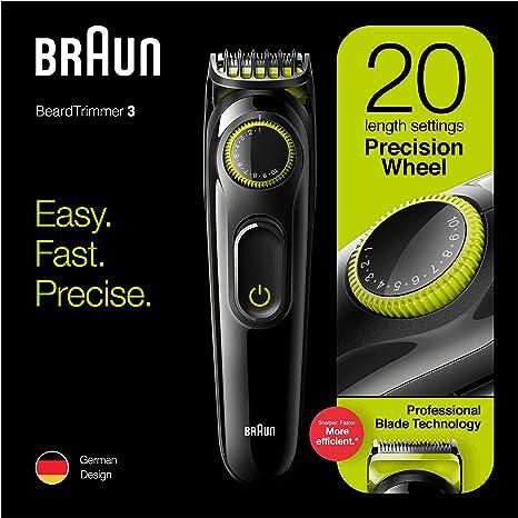 Cortador de barba Braun BT3221, 20 configuraciones de longitud ...