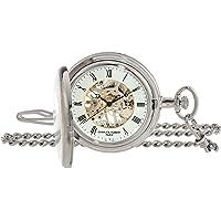Charles Hubert 3860 Two-Tone Mechanical Pocket Watch