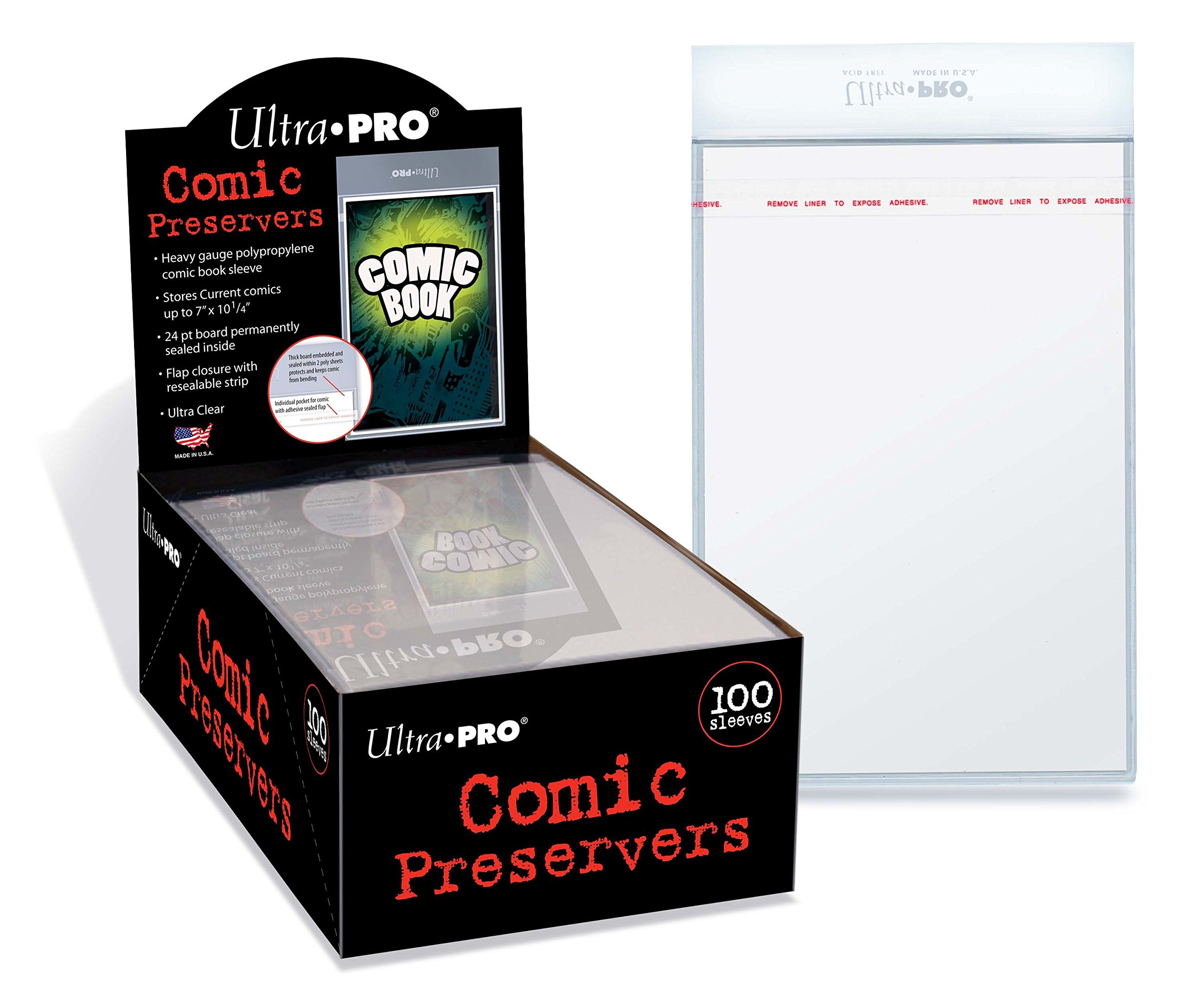 Ultra PRO 7 x 10'' Comic Preserver (100 Count Box), Small, Clear