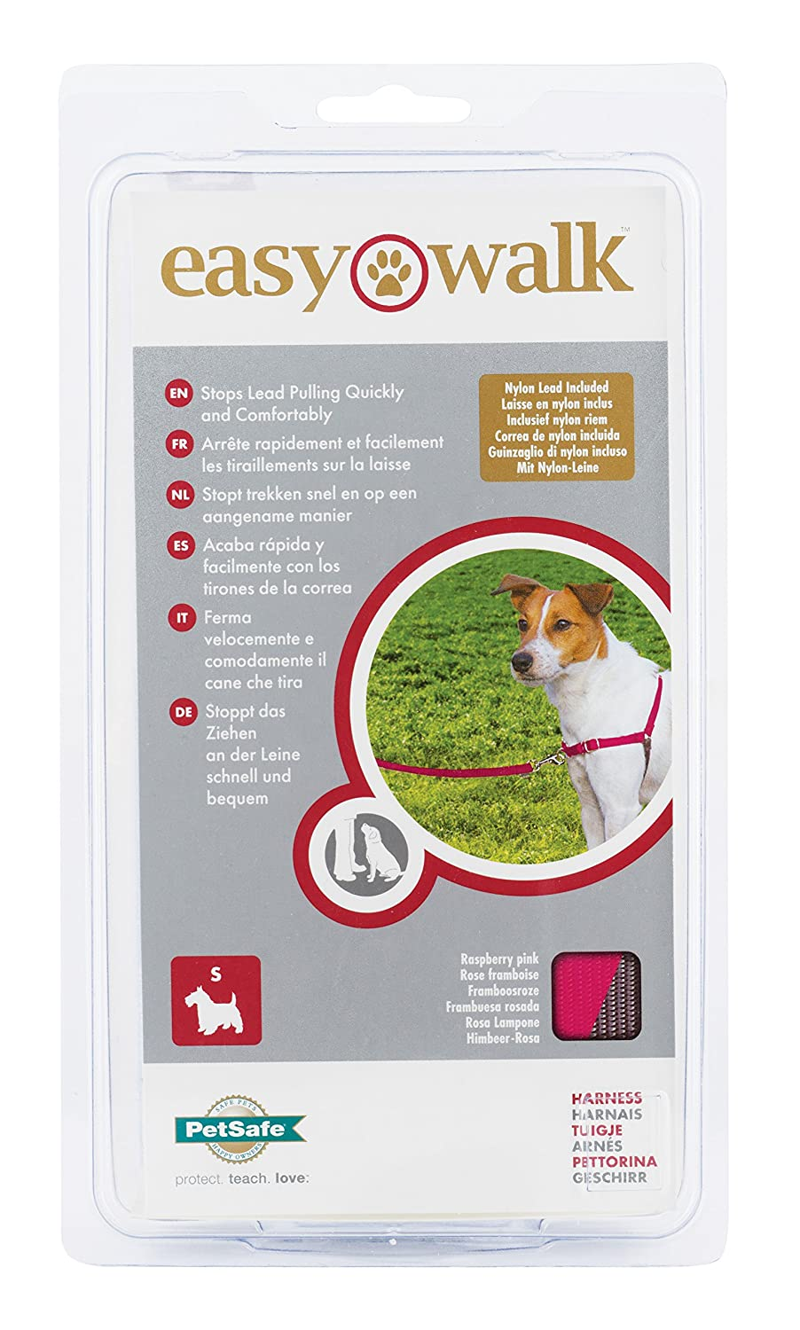 Croci Easy Walk Arnés, Nailon, Rosa, S: Amazon.es: Productos para ...