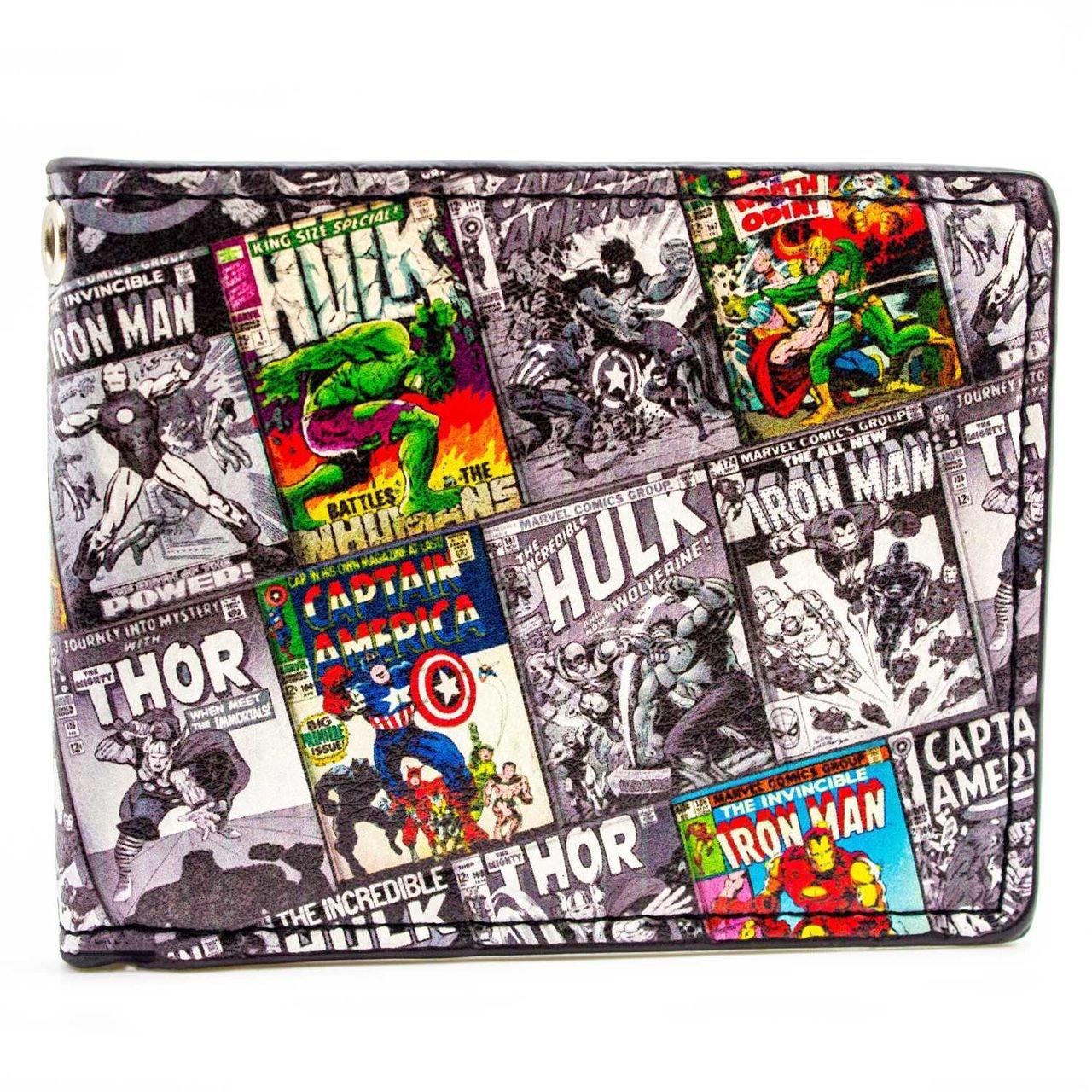 Marvel Characters Retro Comics Multicoloured ID & Card Bi-Fold Wallet