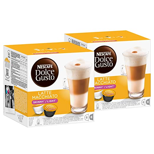 Nescafé Dolce Gusto Latte Macchiato Light, Paquete de 2, 2 x 16 Cápsulas (16 Tazas): Amazon.es: Alimentación y bebidas