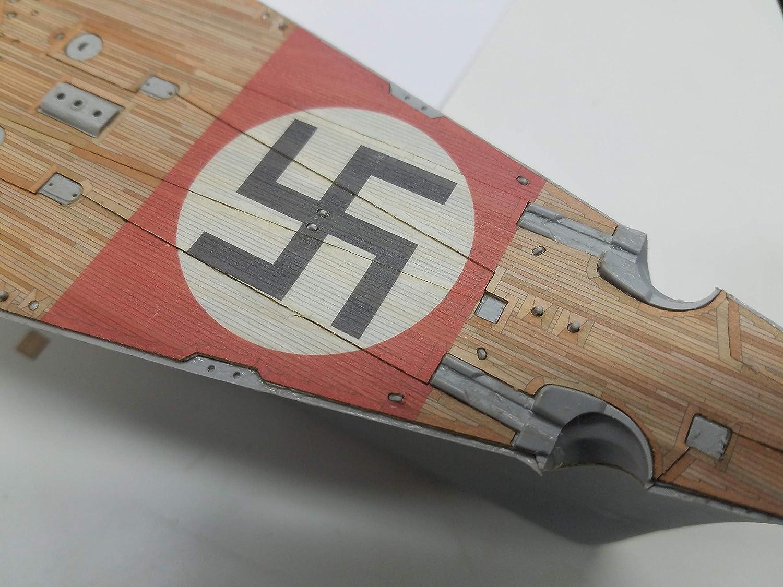 Amazon.com: Premium cubierta de madera para 1/200 Bismarck ...