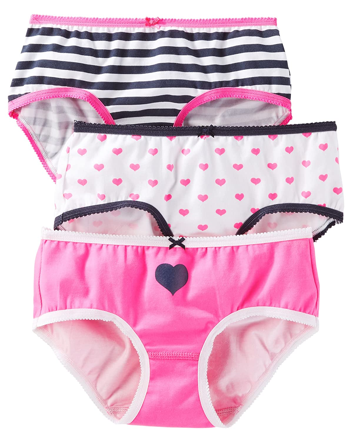 Carter's Little Girls' 3 Pack Panties (Toddler/Kid) - Geo Prints D31G022