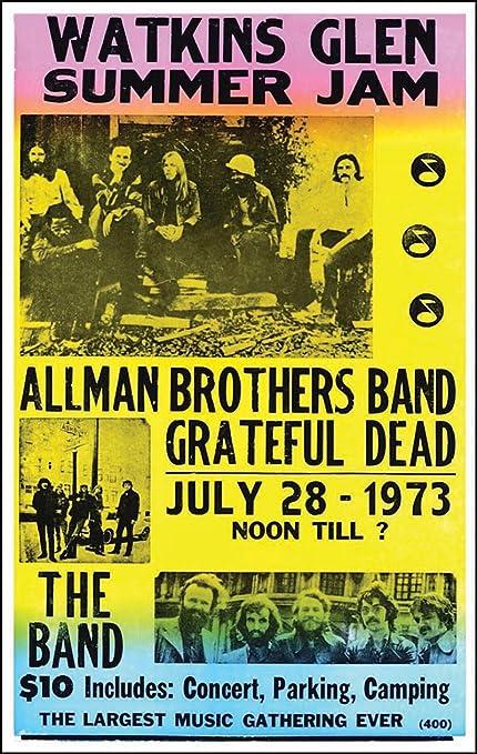 02a887aab634 Amazon.com  Nostalgia Print Watkins Glen Summer Jam Featuring The Allman  Brothers