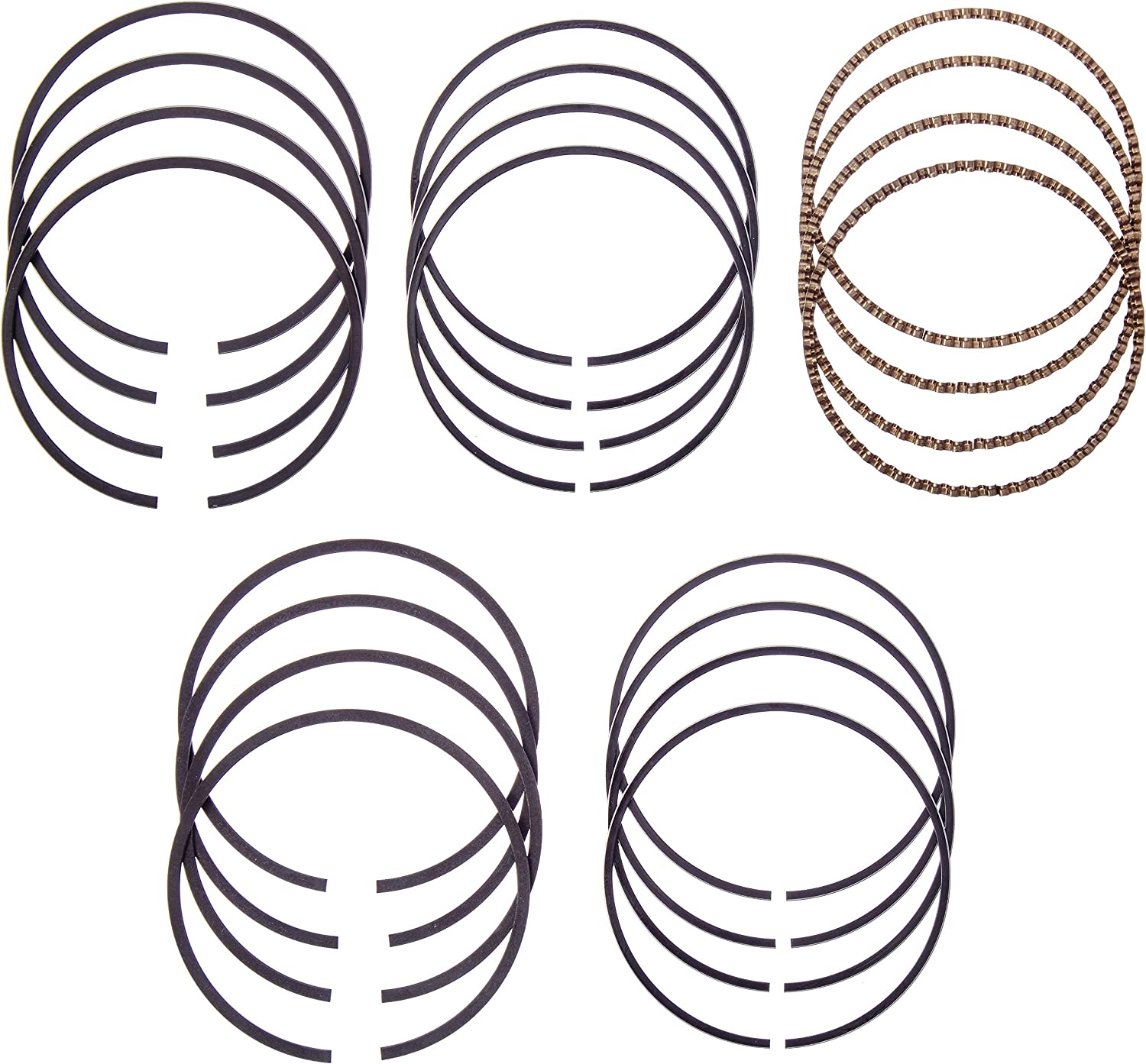 Hastings 2C5049S040 Single Cylinder Piston Ring Set