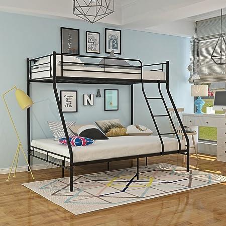 panana metal triple bunk bed 3ft 4ft6 frame bedroom furniture