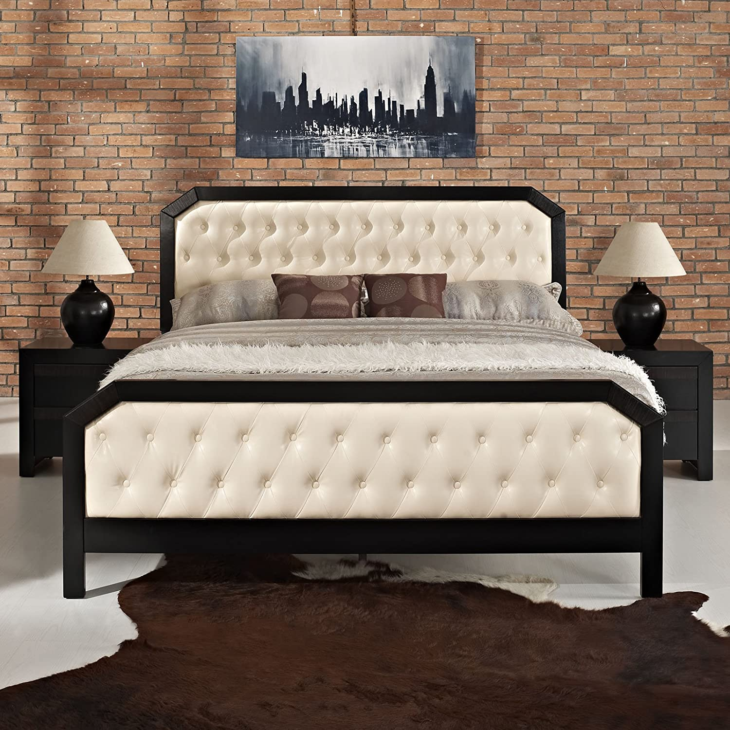 Modway Tommy 3-Piece Bedroom Set with Double Nightstands, King