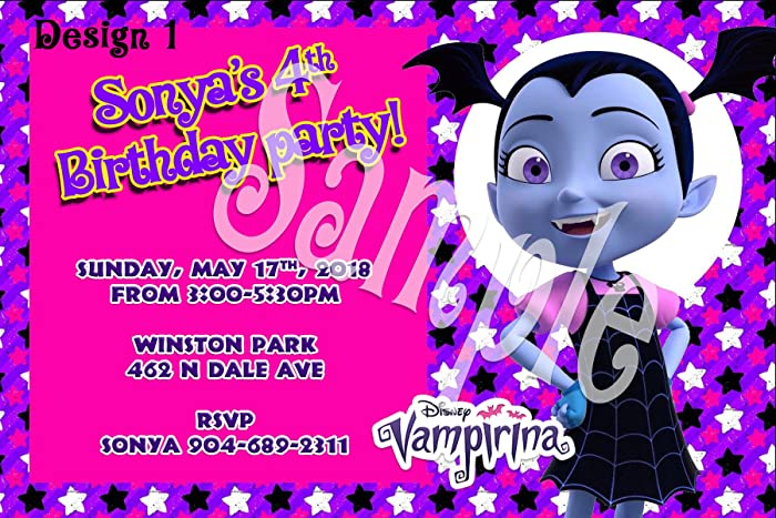 Vampirina Personalized Birthday Invitations More Designs Inside!