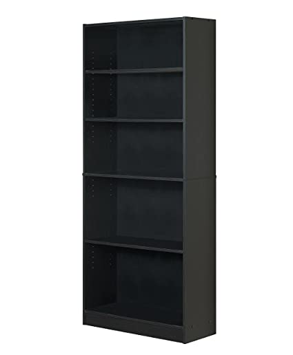 Delicieux Mylex Five Shelf Bookcase; Three Adjustable Shelves; 11.63 X 29.63 X 71.5  Inches,
