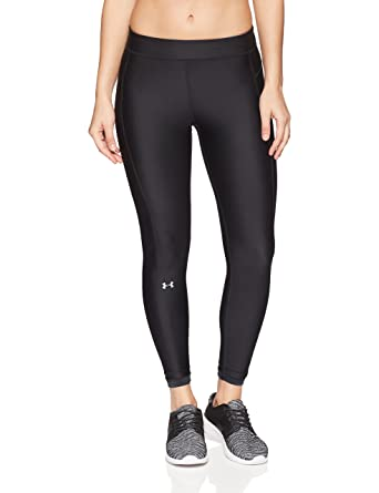 ca5096fa8c1e56 Under Armour Heat Gear Armour Ankle Crop Women's Sports Leggings  (1290782-001_Black_Large)