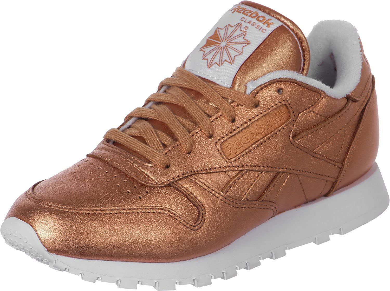 Galaxia Cada semana conocido  REEBOK Classic Leather Spirit Trainers Metallic 6 UK: Amazon.co.uk: Shoes &  Bags