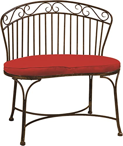 Deer Park 020040 Deep Park Imperial Bench, Natural Patina Powdercoat
