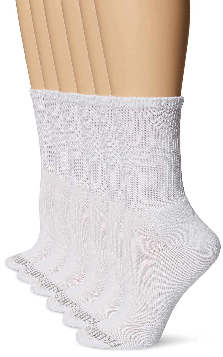Fruit of the Loom womens 6-pair Crew Socks