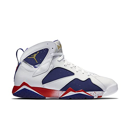 94232adc9ee8 Jordan Air 7 Retro Olympic Tinker Alternate Men's Shoes White/Deep Royal  Blue/Fire