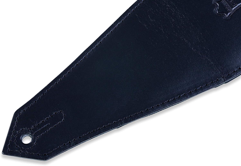 Black Levys Leathers MSS90-BLK Veg-Tan Leather Bass Guitar Strap