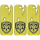 Cobra Cutter Keychain Plastic Restraint Blade | Removes Cobra Cuff Restraints | Emergency Seat Belt Cutter and Box…