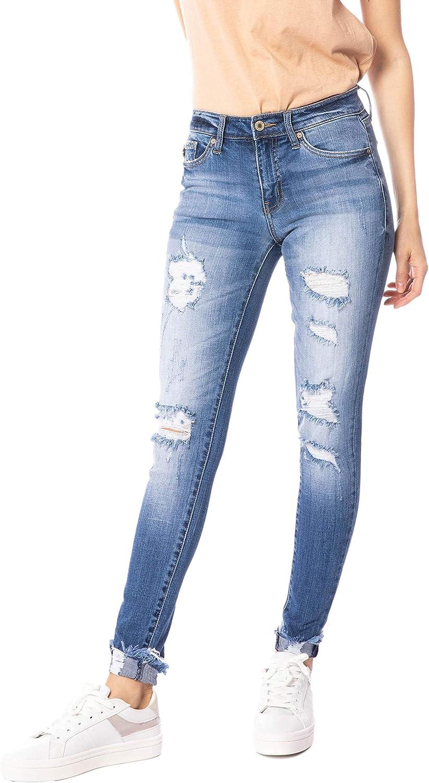 Amazon Com Kan Can Jeans Holly Minna Kc7103m Pantalones Vaqueros De Lavado Mediano De Talla Media Envejecida Clothing