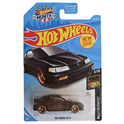 Hot Wheels Nightburnerz 3/10 [Black] '88 Honda CR-X 49/250 2020 Month Card: Toys & Games