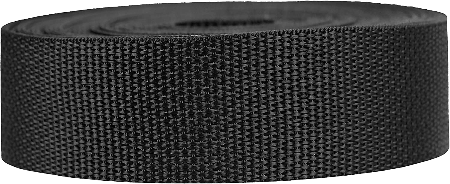Strapworks Lightweight Polypropylene Webbing - Poly Strapping for Outdoor DIY Gear Repair, Pet Collars, Crafts – 1.5 Inch by 10, 25, or 50 Yards, Over 20 Colors