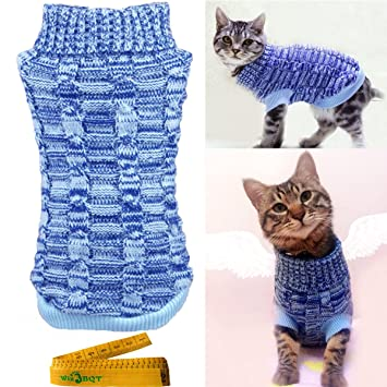 Wiz BBQT Casual Elegant Cat Dog Pet Sweater Turtleneck Knitted Knitwear  Outerwear with Collar for Dogs \u0026 Cats Pets