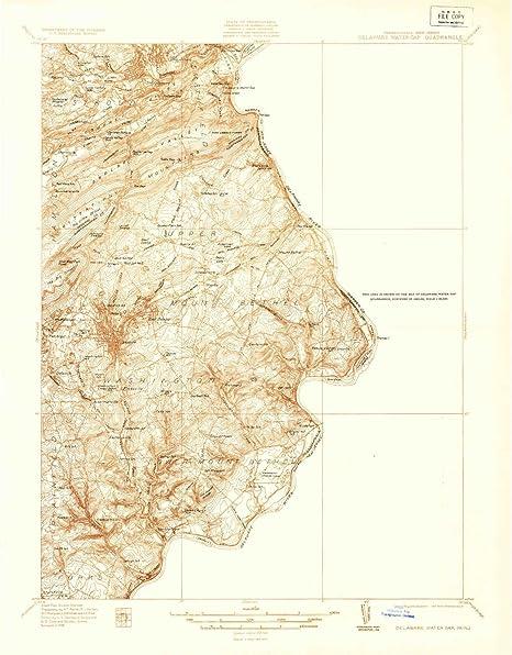 Amazon Com Yellowmaps Delaware Water Gap Pa Topo Map 1 48000 Scale