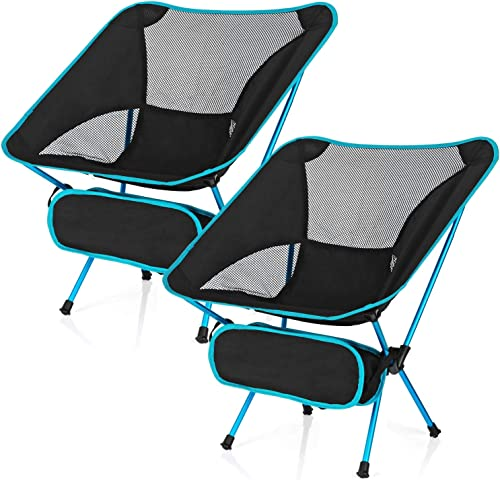 Esup Camping Chair, Ultralight Portable Compact Folding Beach Chairs with Carry Bag for Outdoor Camping, Backpacking, Hiking
