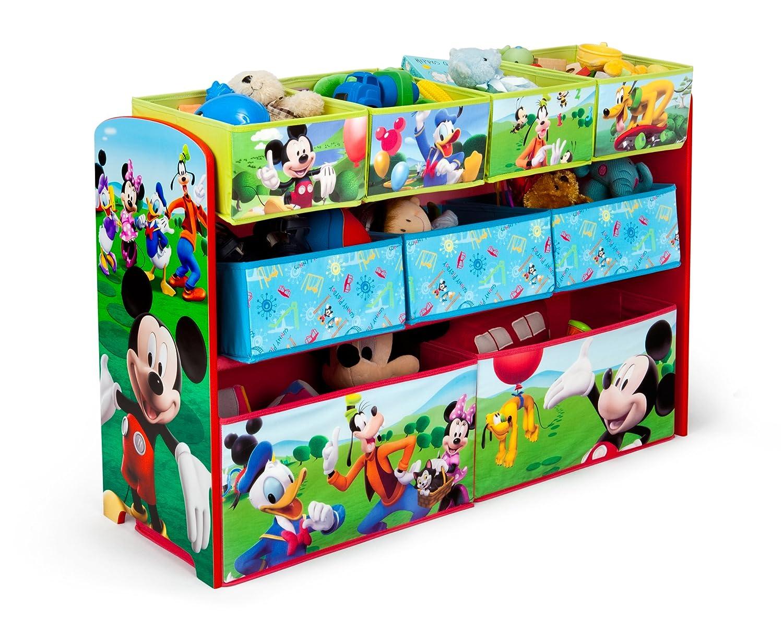 Delta Children Deluxe 9-Bin Toy Storage Organizer, Disney Mickey Mouse