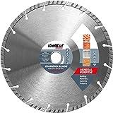 WELLCUT STANDARD Disque Diamant 230 mm Universel Professional à tronçonner Turbo lame diamant pour découper béton, brique, granit, pierre naturelle...