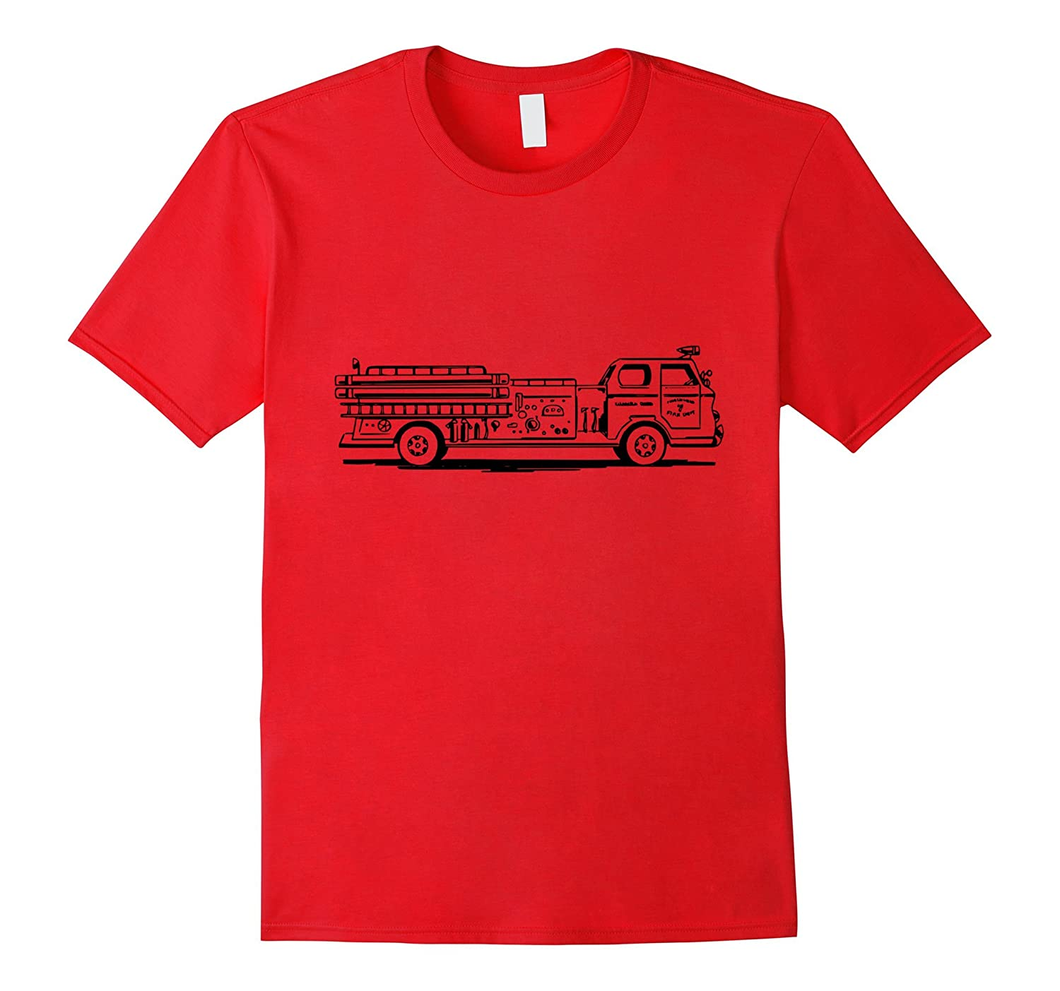 Big Firetruck t-shirt Fireman Firefighter Rescue Vehicle-T-Shirt