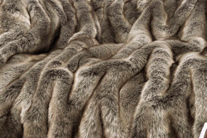 Wohnen & Accessoires Accessoires Accessoires Felldecke aus Webpelz Wolf grau-braun 150x200cm (Kissen 45x45cm) B018LQZDZ6 Zierkissen 8ee3d8