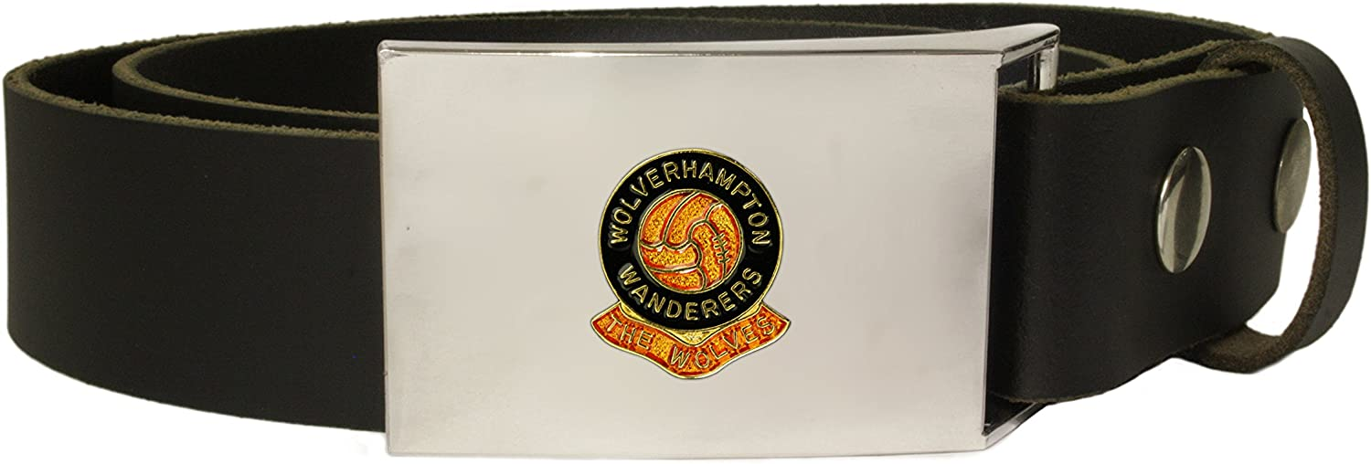 Wolverhampton Wanderers football club leather snap fit belt