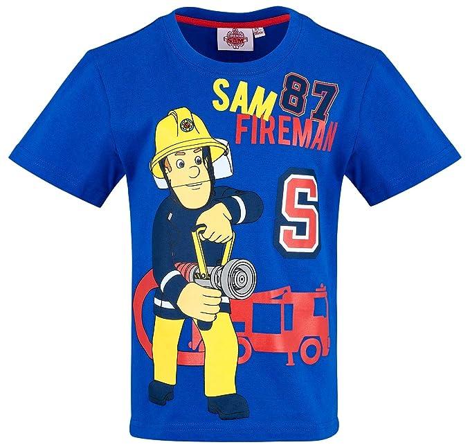Feuerwehrmann Sam T Shirt Jungen Rundhalsausschnitt
