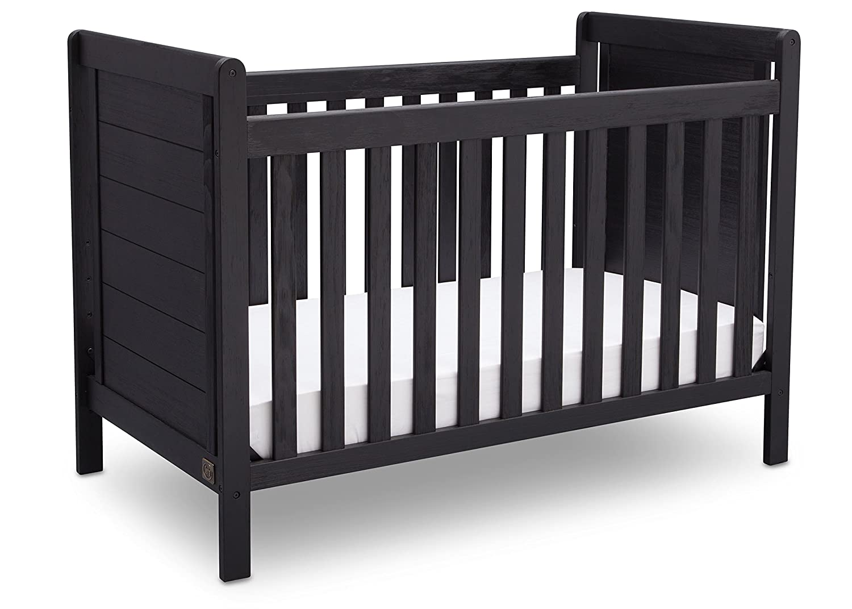 Amazon Serta Cali 4 In 1 Convertible Crib Rustic Ebony Baby