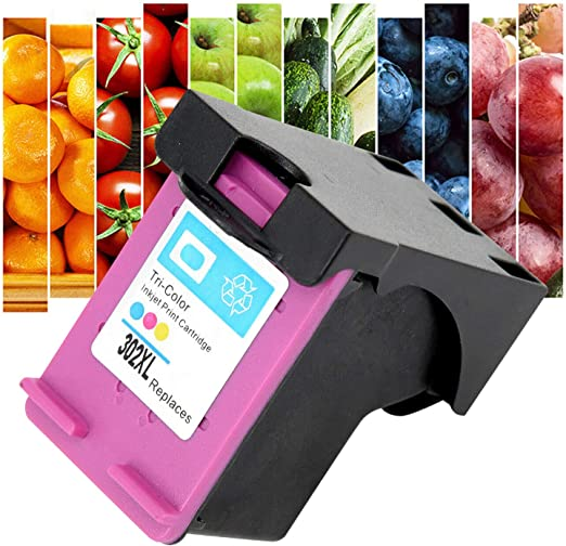 Reemplazo de cartucho de tinta de impresora de inyección de tinta tricolor Compatible con HP 302XL OfficeJet 3830 3831 3832 3833 3834 3835 DeskJet 1110 1112 2130 2131 2132: Amazon.es: Hogar