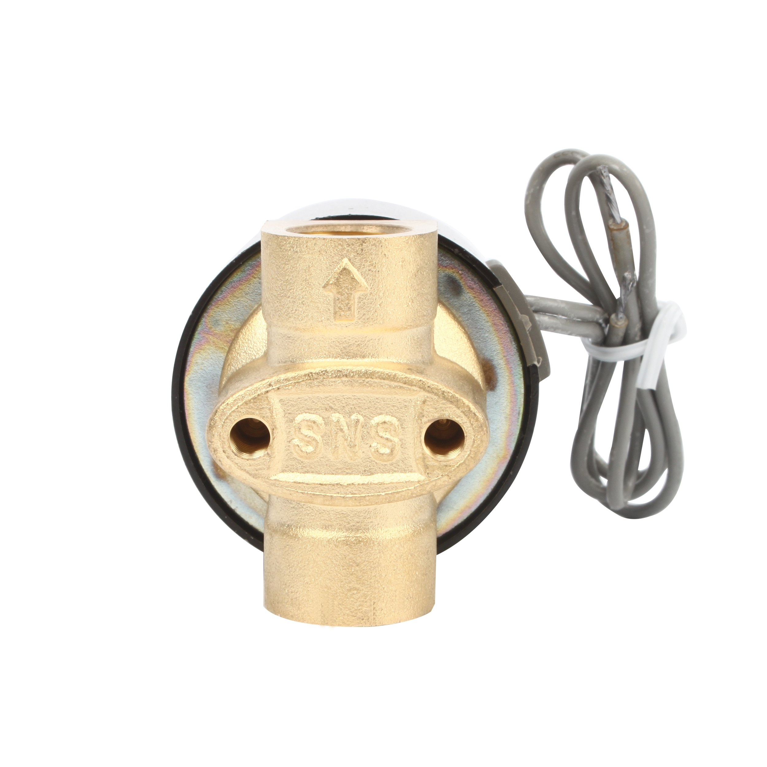 SNS 2W025-08 1/4'' DC12V NPT Brass Electric Solenoid Valve Normally Closed Water, Air, Diesel by SNS (Image #3)