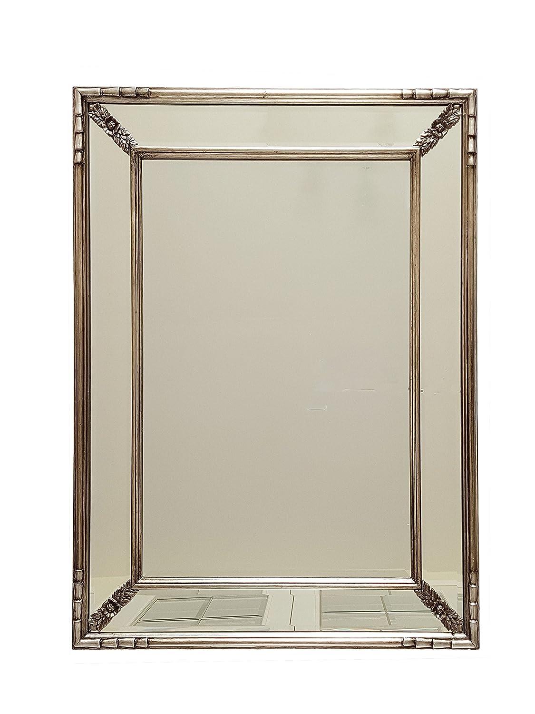 Amazon.com: Espejo de pared de pizarra y rosa, champán ...