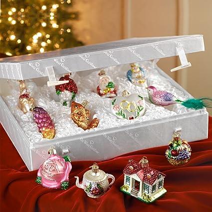 Old World Christmas Merck Family S Bride S Tree Ornaments Metal Display Tree