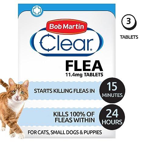 Pastillas antipulgas Bob Martin, para gatos y perros pequeños de menos de 11 kg