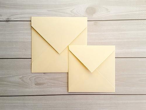 Amazon Com 5x5 6x6 Ivory Envelopes Ivory Wedding Envelopes