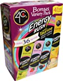 4C Totally Light -2- Go Energy Rush Packets, 4 Flavors, 54-Count [RETAIL PACKAGING]