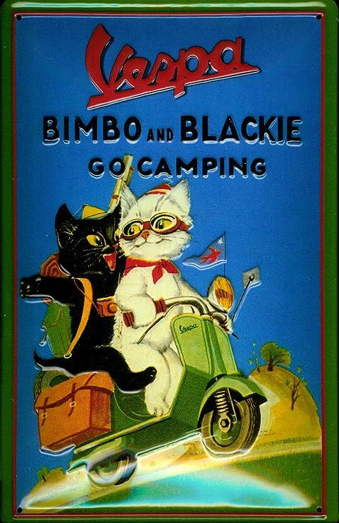 Amazon.com: Vespa Scooter Gatos Bimbo y Blackie nostálgico ...